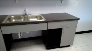 Cut Hut - UT Austin - Sink Cabinets